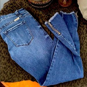 KanCan zip ankle jeans